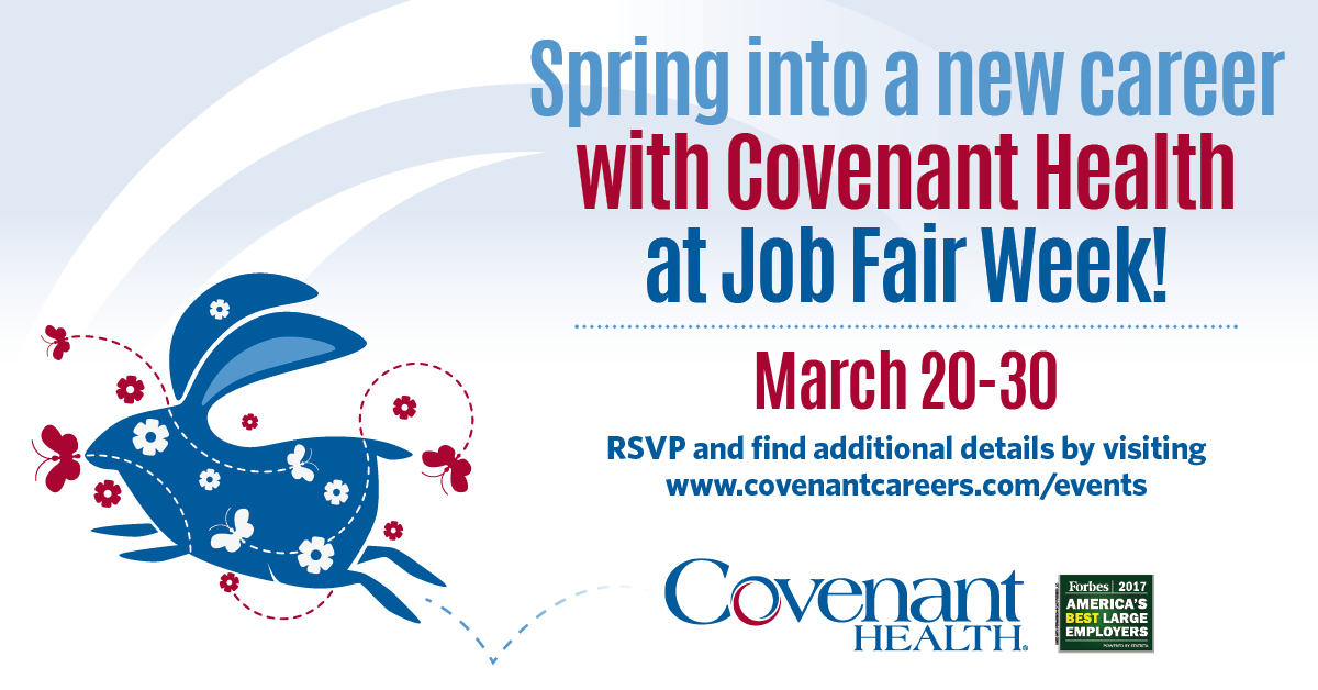 Welcome To Covenant Careers  Covenant Health Employment Services